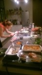 The chef hard at work.